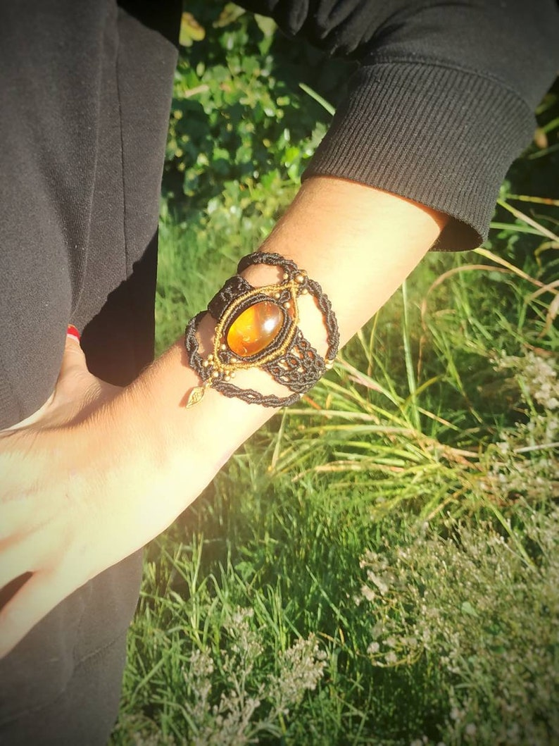 bracelet macrame tribal bracelet macrame macrame bracelet Amber bracelet macrame free spirit bracelet,Mexican healing bracelet ambar