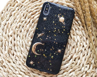 Yellow Moons and Stars iPhone 11 case