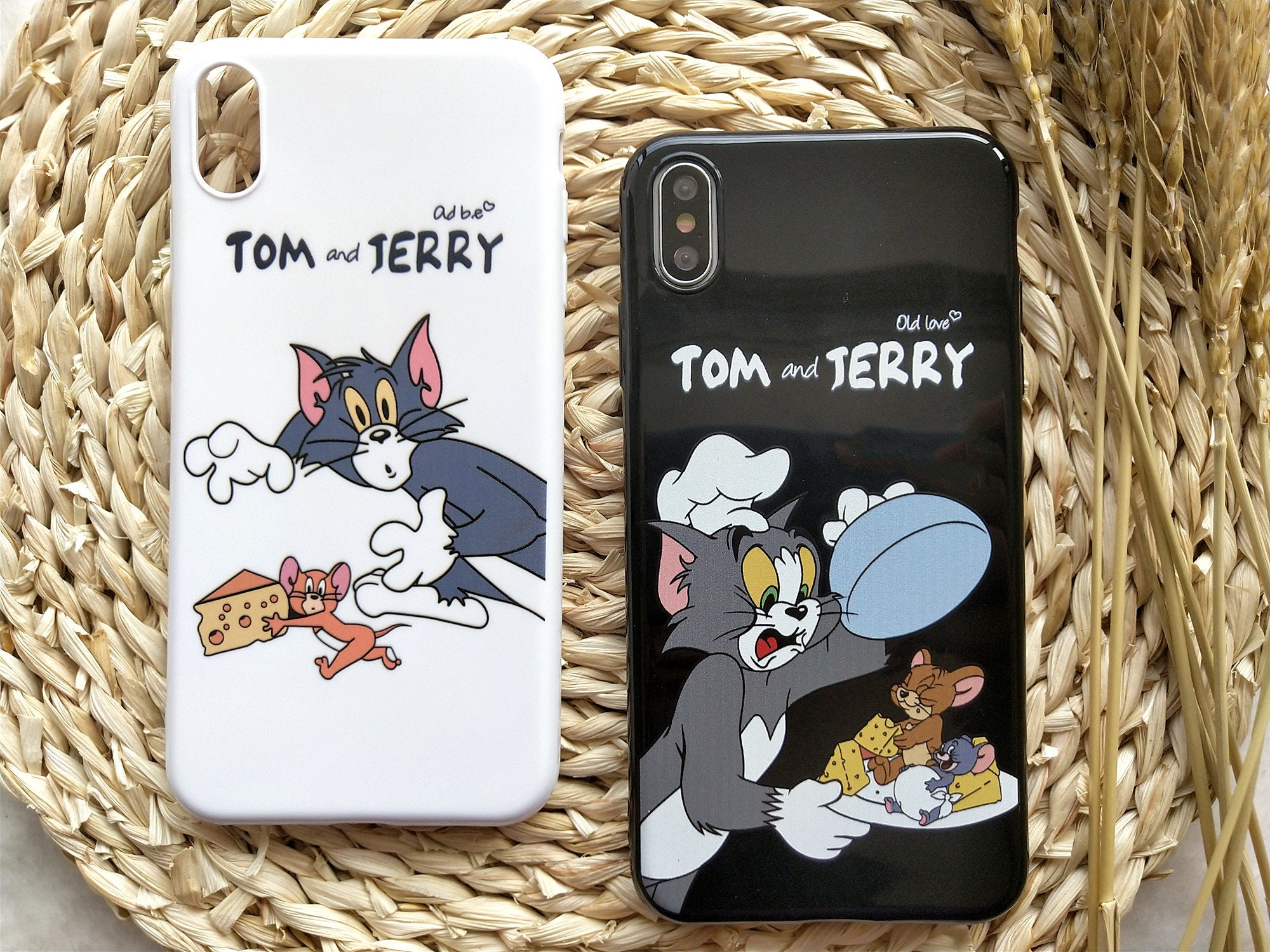 Tom And Jerry Cartoon iPhone Case iPhone XS Max Case iPhone XS Case iPhone XR Case iPhone X Case iPhone 8 Plus Case 8 Case 7 Plus 7 6S 6
