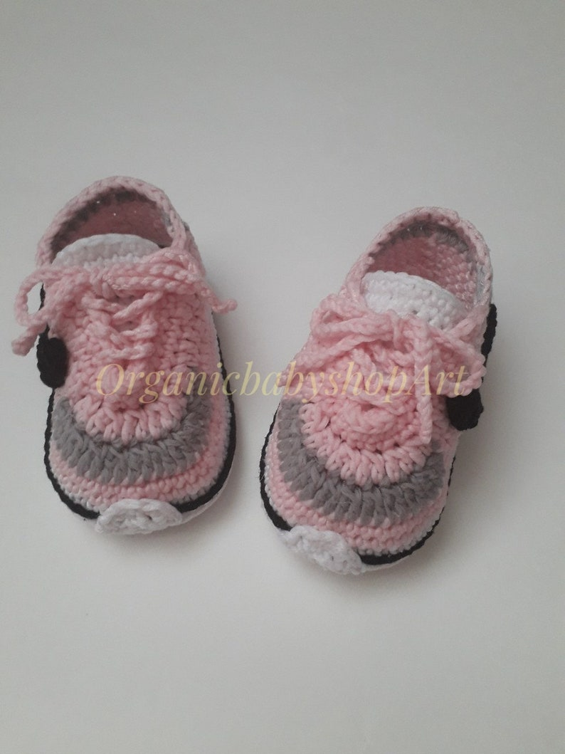 034cd19f291aa crocheted sneakers. Baby girl coming home outfit, baby girl, newborn girl,  personalized baby girl outfit