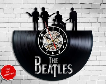 The Beatles Art Vinyl Clock Music Lover Decor Record Personalized Gifts Musician Home Vintage