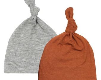 fad36520028 Newborn Top Knot Hat-2 pack