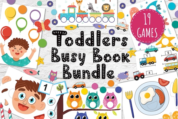 Busy Book Bundle for Toddlers Printable Busy Bag Pdf Baby