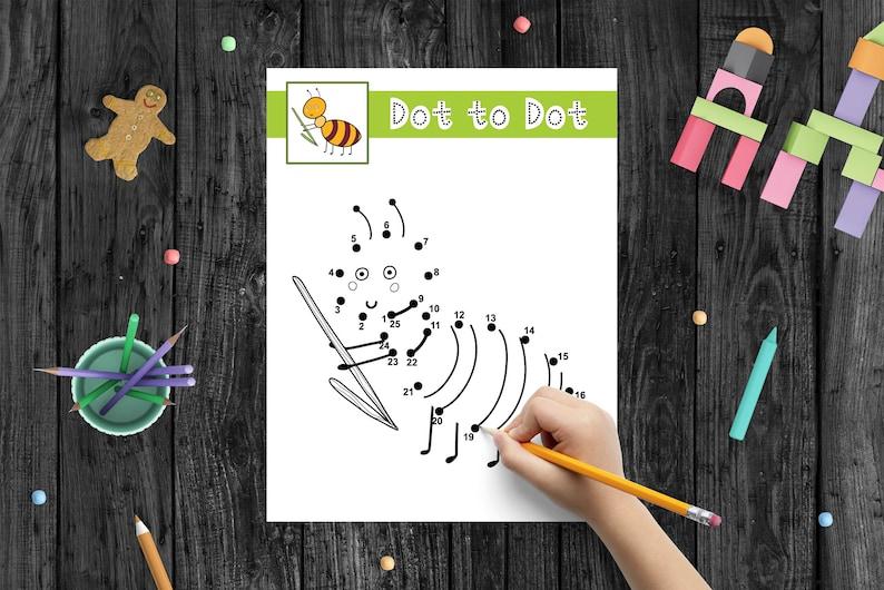Dot to Dot Printable Book for Kids Quiet Book Printable