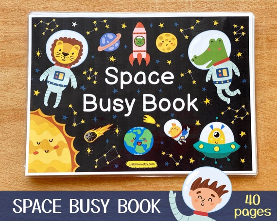 Space Busy Book Printable Toddler First Busy Book Pdf