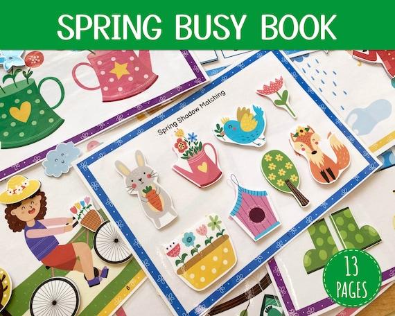 Spring Busy Book Toddler Busy Book Printable Quiet Book Pdf