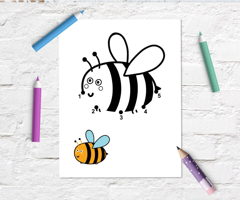6 Dot to Dot Printable Coloring Activities PDF Super Simple
