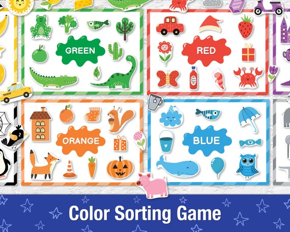Color Sorting Busy Book for Toddlers Printable Baby Quiet
