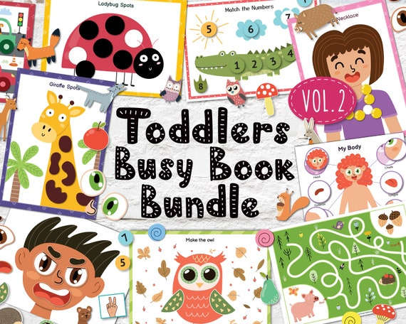 Busy Book Bundle for Toddlers PDF Vol. 2 Printable Activity