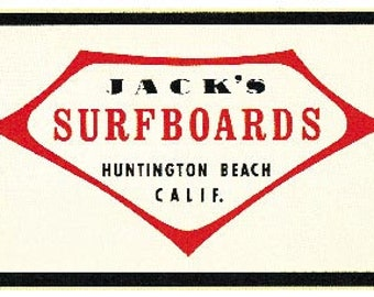 Boice Surfboards Hermosa Beach CA  Vintage Looking  1960/'s Surfing Decal Sticker