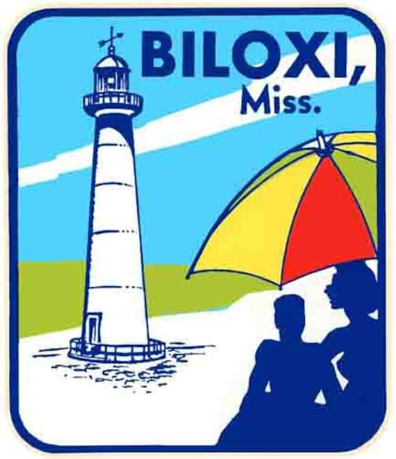 Vintage 1950 S Style Biloxi Ms Mississippi Casino Etsy