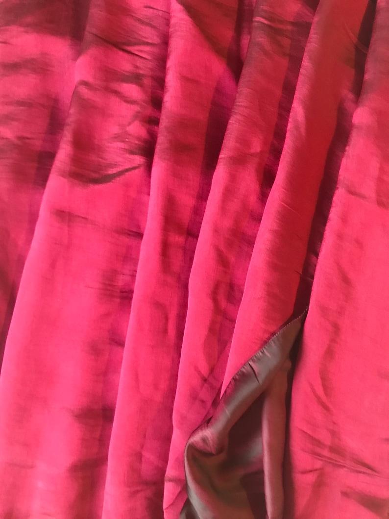 Reversible Soft Satin Plain Party Saree In Burgundy Maroon and Dark maroon