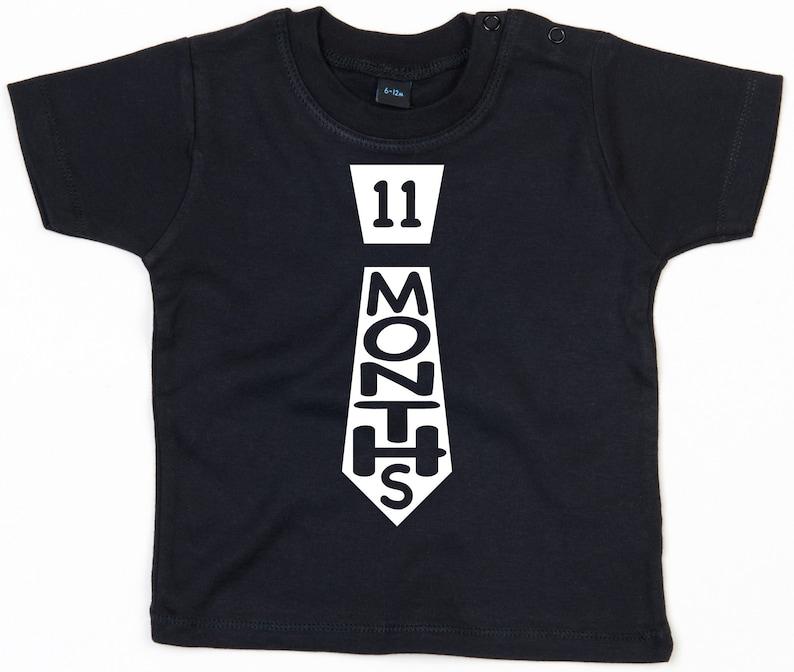 Event Months Eleven Months Old Girl Milestone T-Shirt Boy 11 Baby T-Shirt