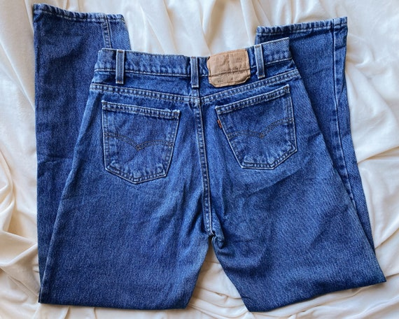 ORANGE TAB LEVI'S 550 jeans | classic women's high