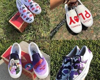 dc3f0cf272 Custom slip on vans shoes