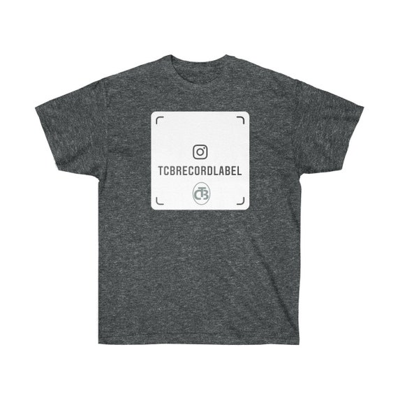 TCB RECORDS IG black Unisex Ultra Cotton Tee ( logo appears on front and back)