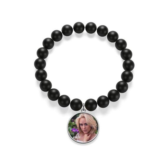 ASHLEY GETZ Matte Onyx Bracelet