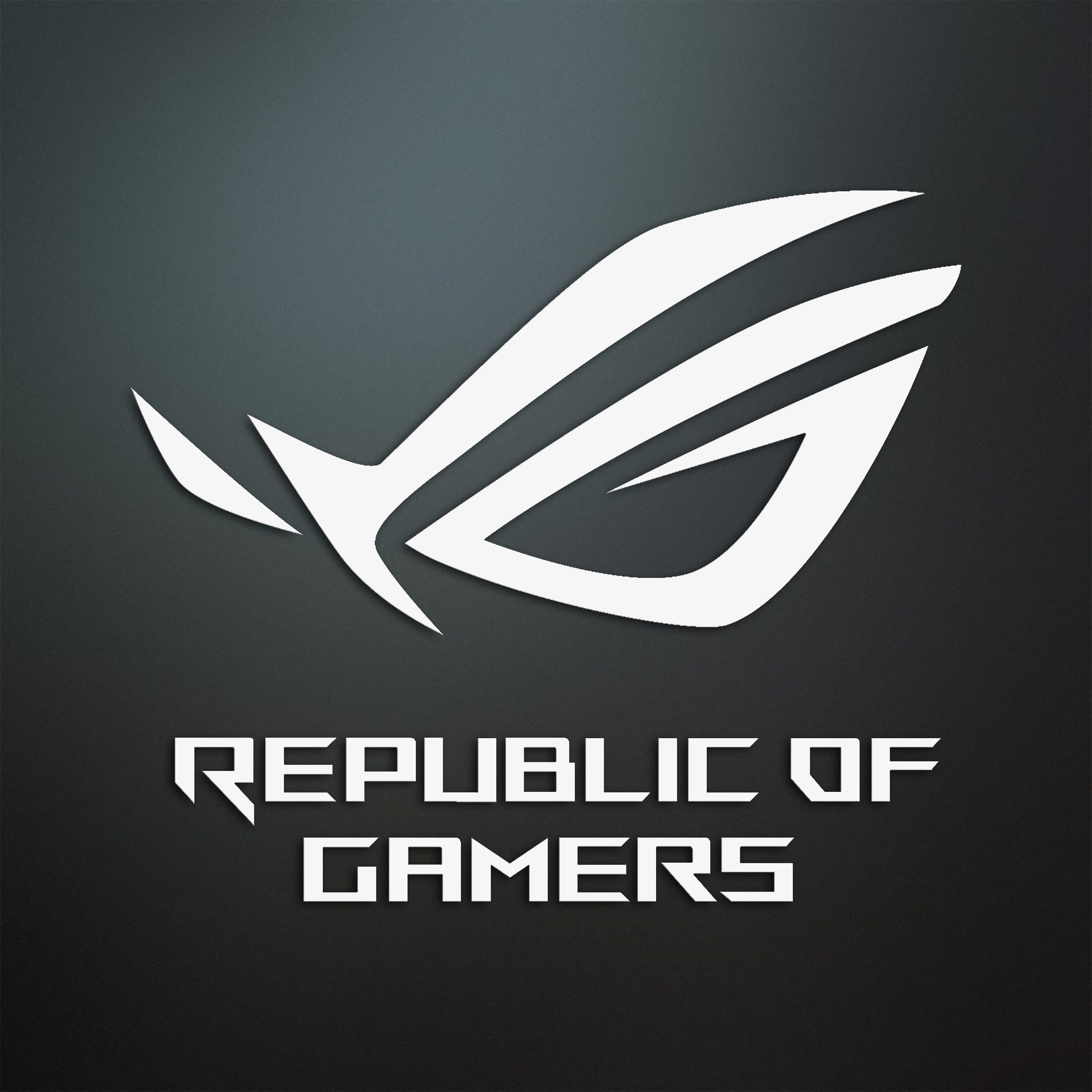 decal 4x ROG republic of gamers vinyl car sticker window laptop ORACAL 651