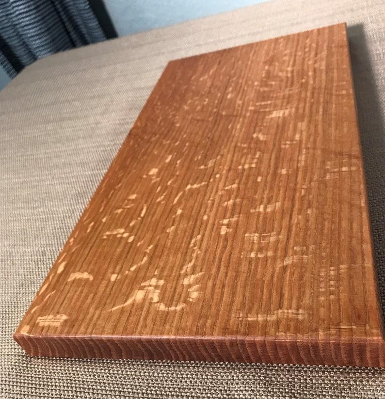 medium size oak cutting board thick cutting board quarter sawn oak board Oak cutting board