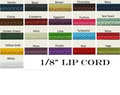 1 8 quot Lip Cord Trims By The Yard - 21 Colors