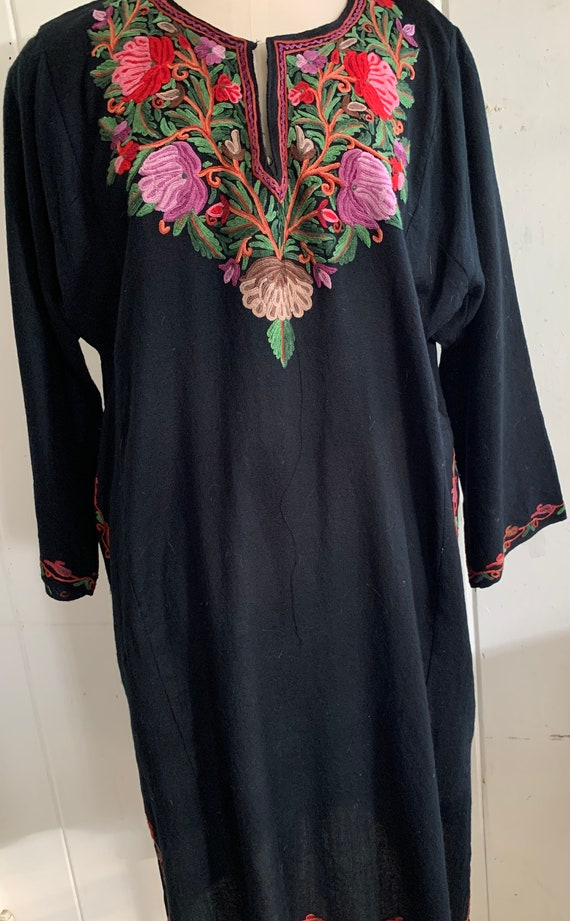 Vintage boho embroidered dress
