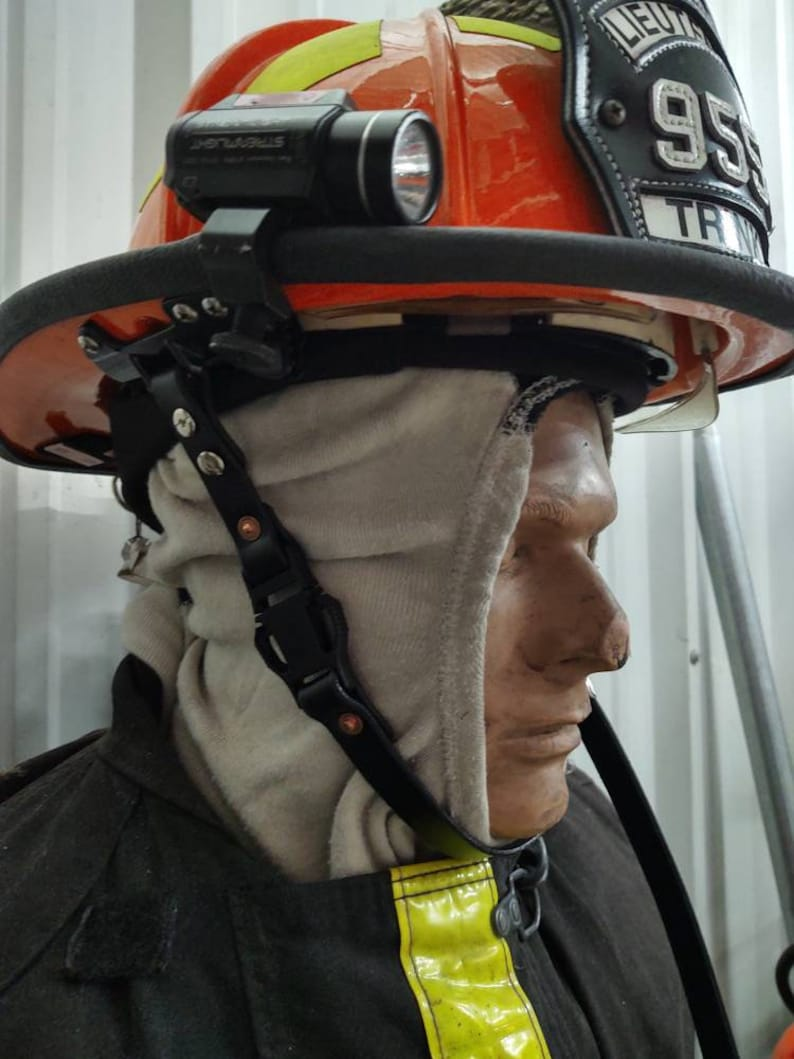 Firefighters Leather ChinHelmet Strap