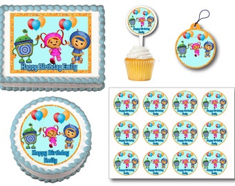 Team Umizoomi Edible Birthday Cake Topper Plastic Cupcake Picks Stickers Or Gift Tags