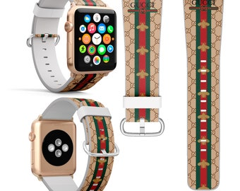 51ec93a3c58 Inspired by Gucci Apple Watch 44mm Bee iWatch Band iWatch Strap iWatch  Series 4 Leather band Watch 38mm Watch Band 42mm Watch band iWatch