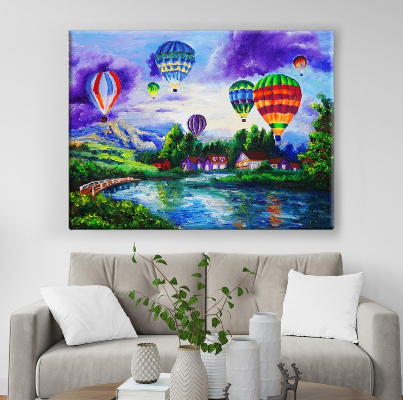 imagine Nature art gift colorful dream world travel wall art decor Colorful Air Balloons Landscape Poster Cute beautiful scenery