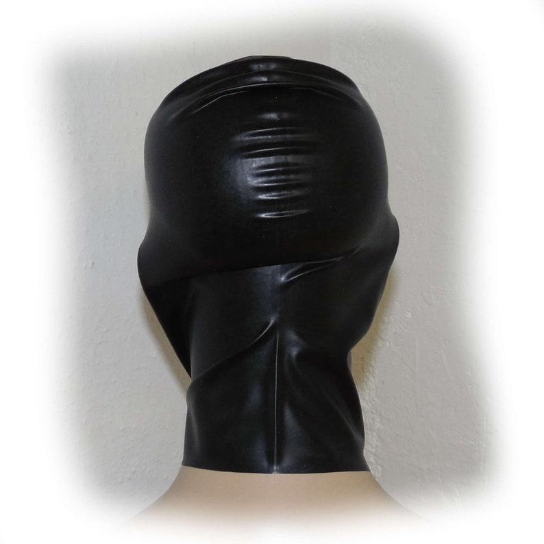 Latex mask fetish unisex seamless 3373