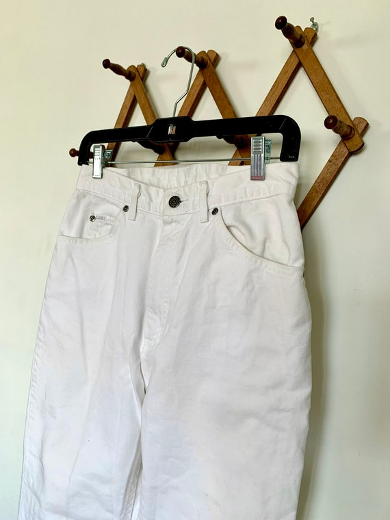90's White Lee Mom Jeans Sz 10P