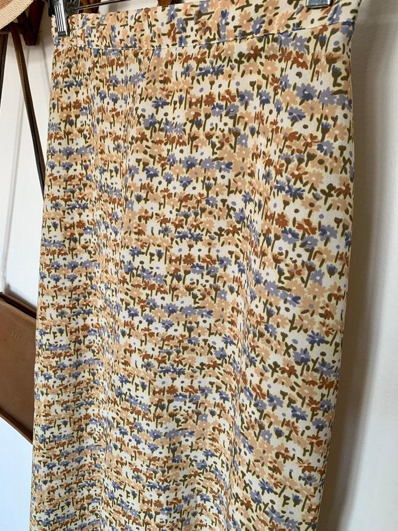 90/'s High Waisted Floral Maxi Skirt Sz Small
