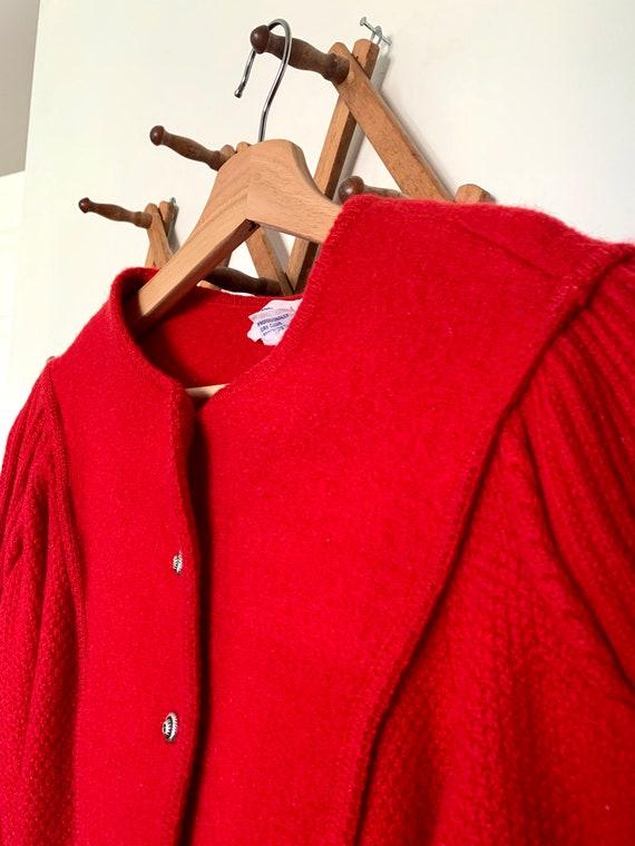Bright Red 1950's Cardigan