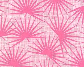 Palm Fronds fabric - Choose charcoal, pink or aqua - AVL-17459
