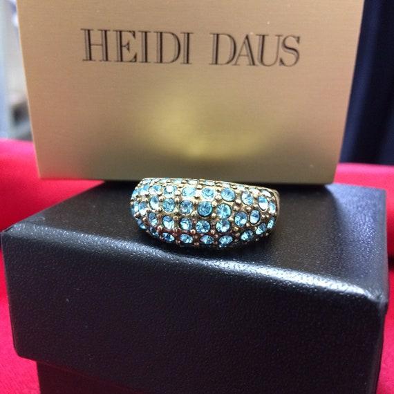 "New Heidi Daus ""Hugs from Heidi"" Turquoise Crystal"