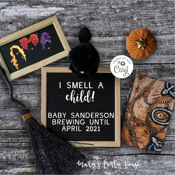 Halloween Pregnancy Announcement for Social Media Hocus Pocus