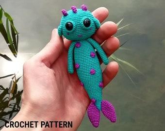 Amigurumi pattern - crochet pattern amigurumi -  sea monster - amigurumi doll pattern - halloween crochet pattern - crochet pattern