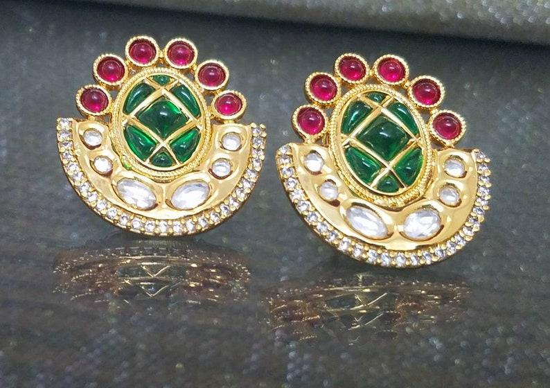 Earrings,Indian Jewelry,Pakistani Stud Earrings,Pakistani Jewelry Wedding Earrings Fine Kundan Stud Earrings,Indian stud Earrings