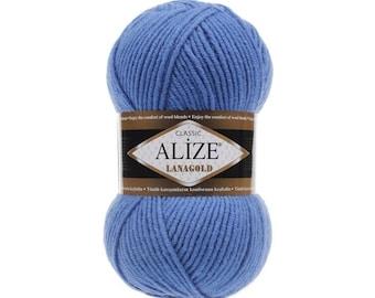 Alize Lana Gold Classic,Wool Yarn Acrylic Yarn Goat Yarn Crochet yarn Blend yarn acrylic yarn goat yarn goat fur yarn Angora