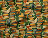 Paintbrush Studio - Forest Fables - Stacked Books - Multi - Cotton Fabric by the Yard or Select Length 120-19617 photo