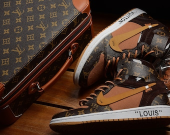4e9bc1577e187f Custom Made LV x Off-White x Jordans