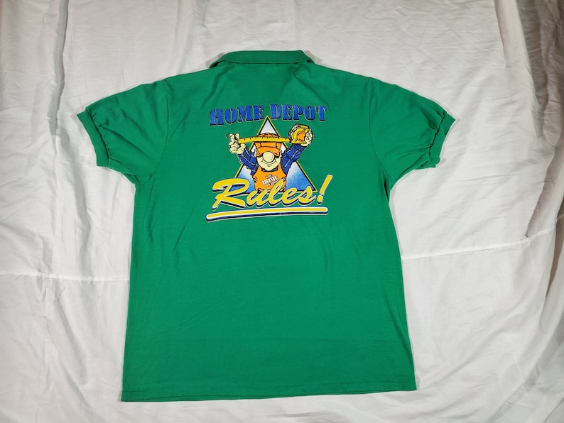 7df5c7e0fc7a 90s Home Depot Polo Size M   Etsy