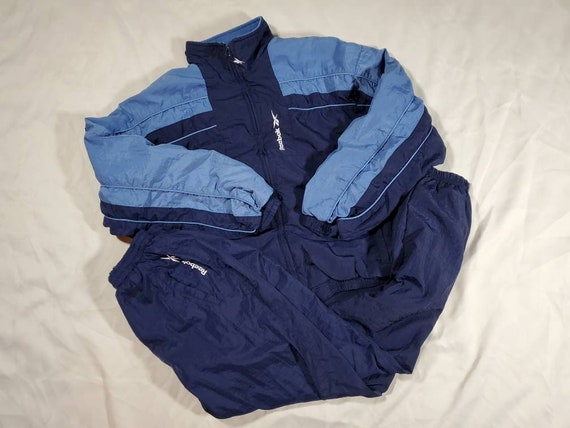 Reebok Womens Running Tracksuit Windbreaker Blue S