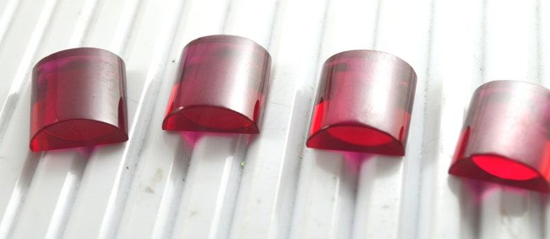 AAA Rated Find Baguette Faceted Lab Created Ruby Gemstone Sizes 13x17mm Flame Fusion