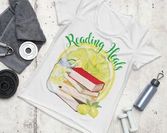 Reading Heals Women's Athletic T-shirt