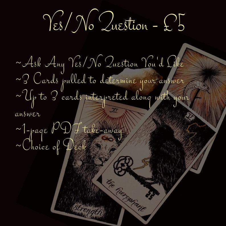 Yes/No Question Spread image 1