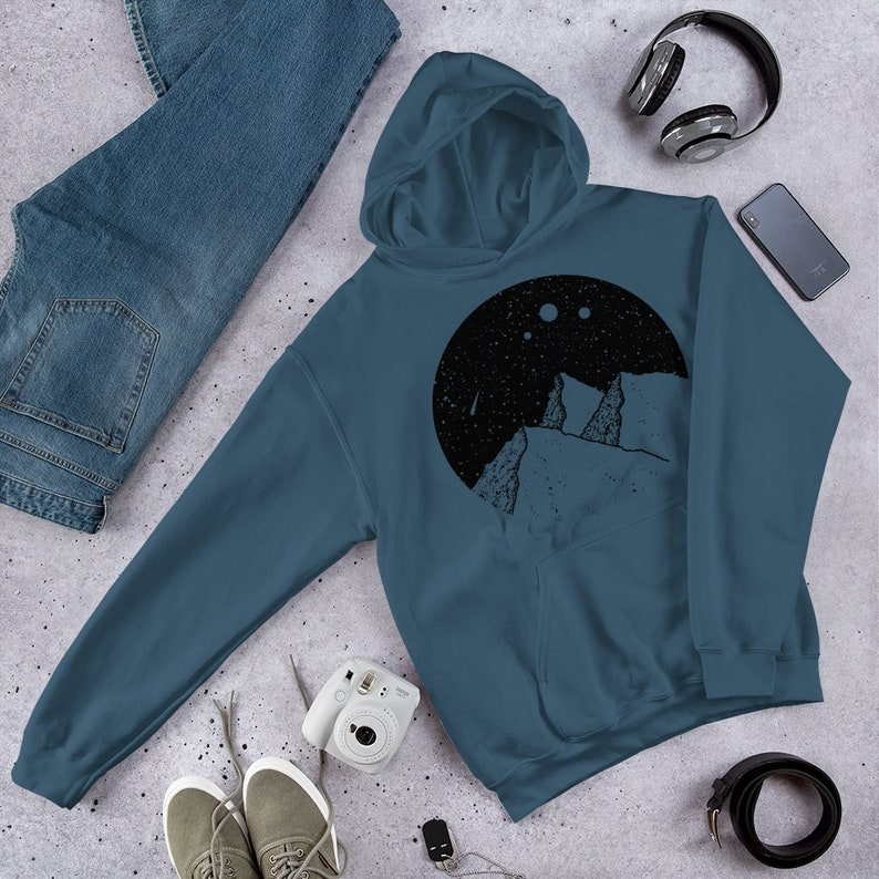 gift sweater boyfriend husband outdoor trekking jumper skater beach hoodie Mountain peak man sweatshirt