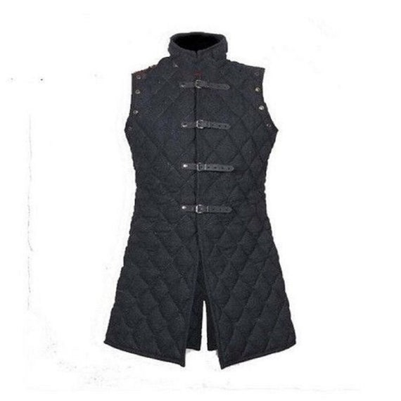 X MAS GIFT Thick Padded Gambeson medieval Aketon Coat Armor cotton