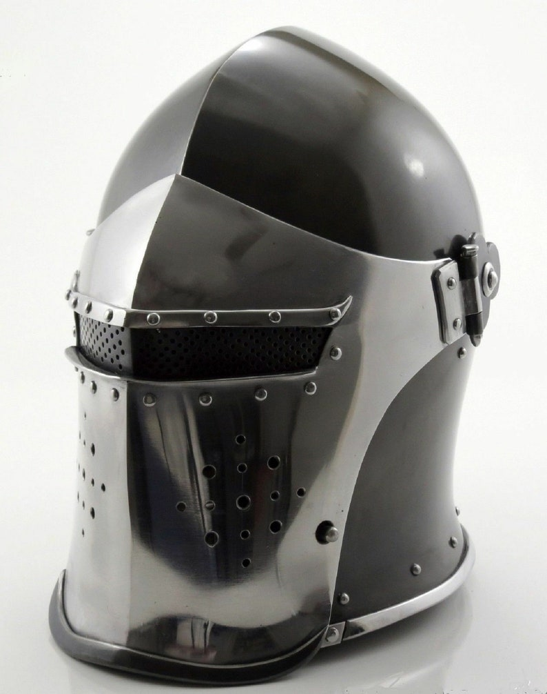 Medieval Barbute Helmet Armour Helmet Roman-knight helmets with  Inner-Liner-axa