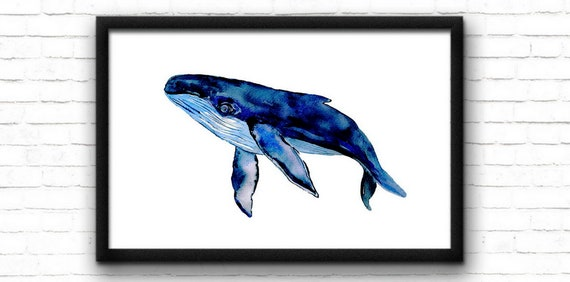 humpback whale print, Whale print nursery print whale poster whale painting nursery wall art whale wall art instant download